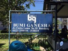 Papan Nama Bumi Ganesha